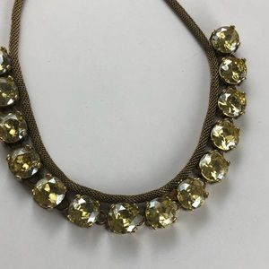 Vintage J Crew yellow crystals necklace